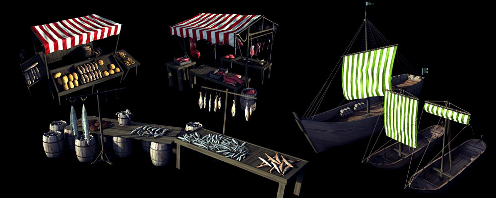 Market props detailed shot - rendered image