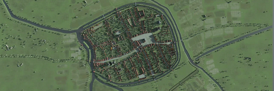 City overview - Screenshot from the movie.