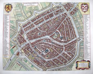Leiden according to Blaeu